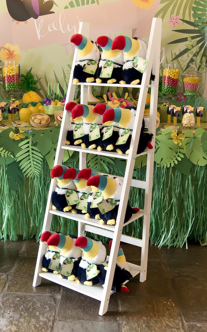 Toucan plush favors from a Tropical Toucan Birthday Party on Kara's Party Ideas | KarasPartyIdeas.com (16)