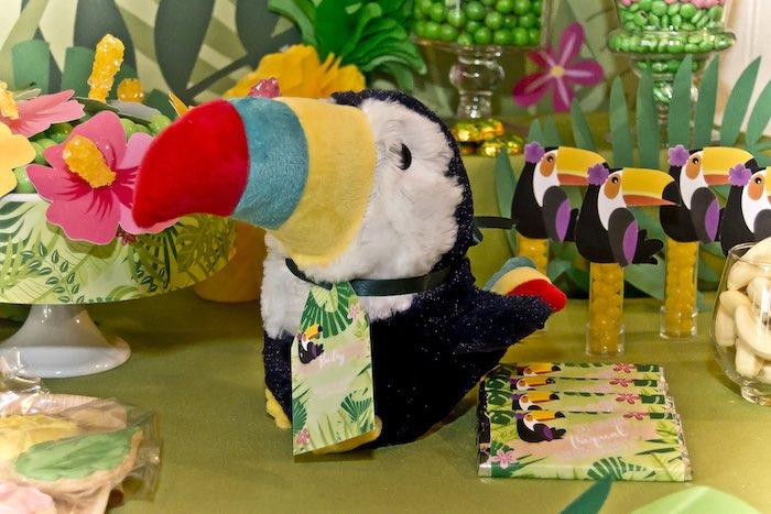 Toucan plush from a Tropical Toucan Birthday Party on Kara's Party Ideas | KarasPartyIdeas.com (13)