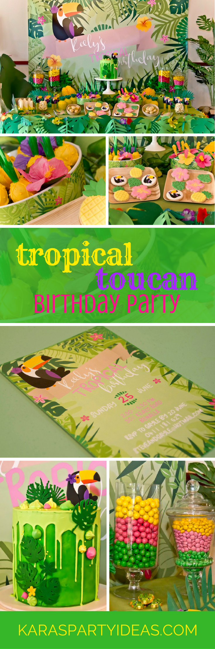 Kara\'s Party Ideas Tropical Toucan Birthday Party | Kara\'s Party Ideas