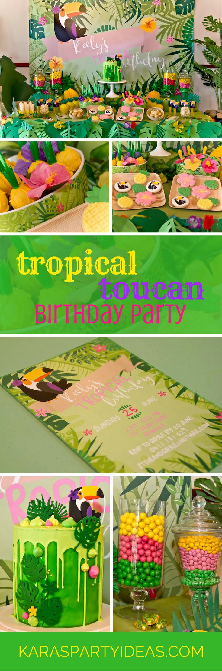 Tropical Toucan Birthday Party via Kara's Party Ideas - KarasPartyIdeas.com