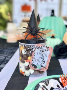 Witch hat favor jar from a Wickedly Sweet Halloween Costume Party on Kara's Party Ideas | KarasPartyIdeas.com (4)