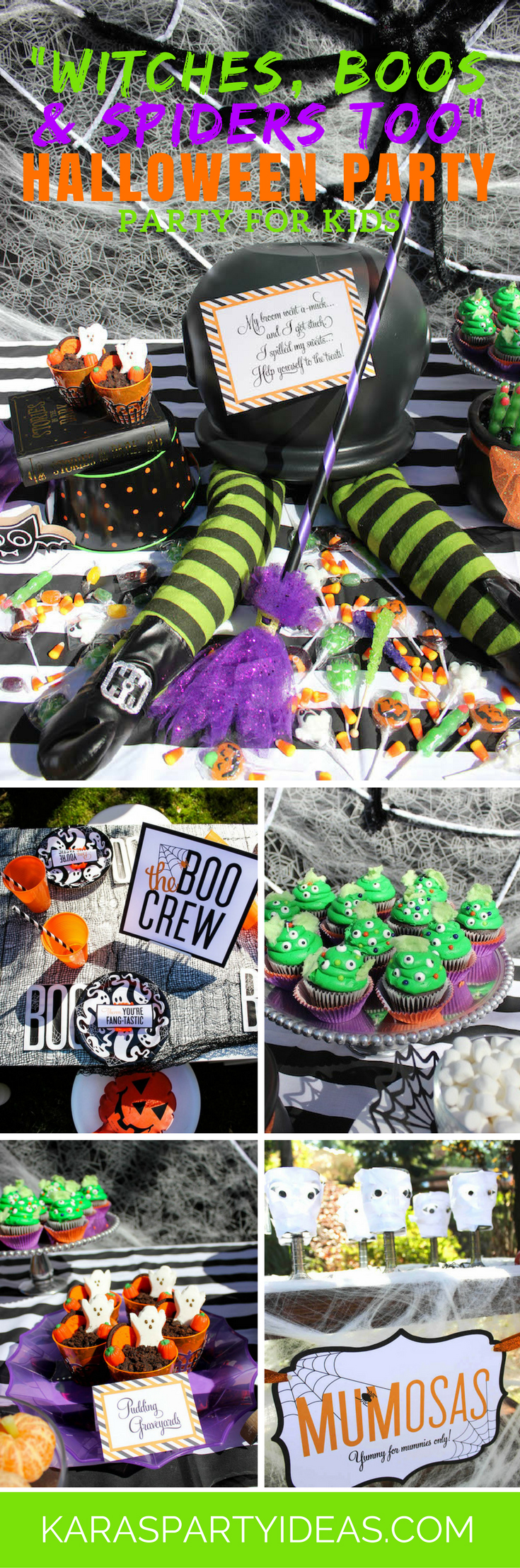 Witches Boos and Spiders too Halloween Party for Kids via Kara's Party Ideas - KarasPartyIdeas.com