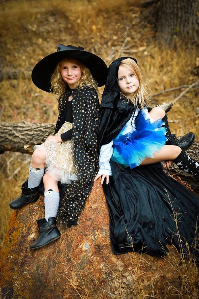 Little witches from a Witches' Brew Halloween Tea Party on Kara's Party Ideas | KarasPartyIdeas.com (21)