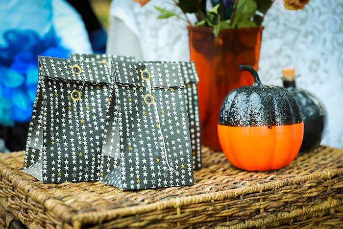 Favor sacks from a Witches' Brew Halloween Tea Party on Kara's Party Ideas | KarasPartyIdeas.com (20)