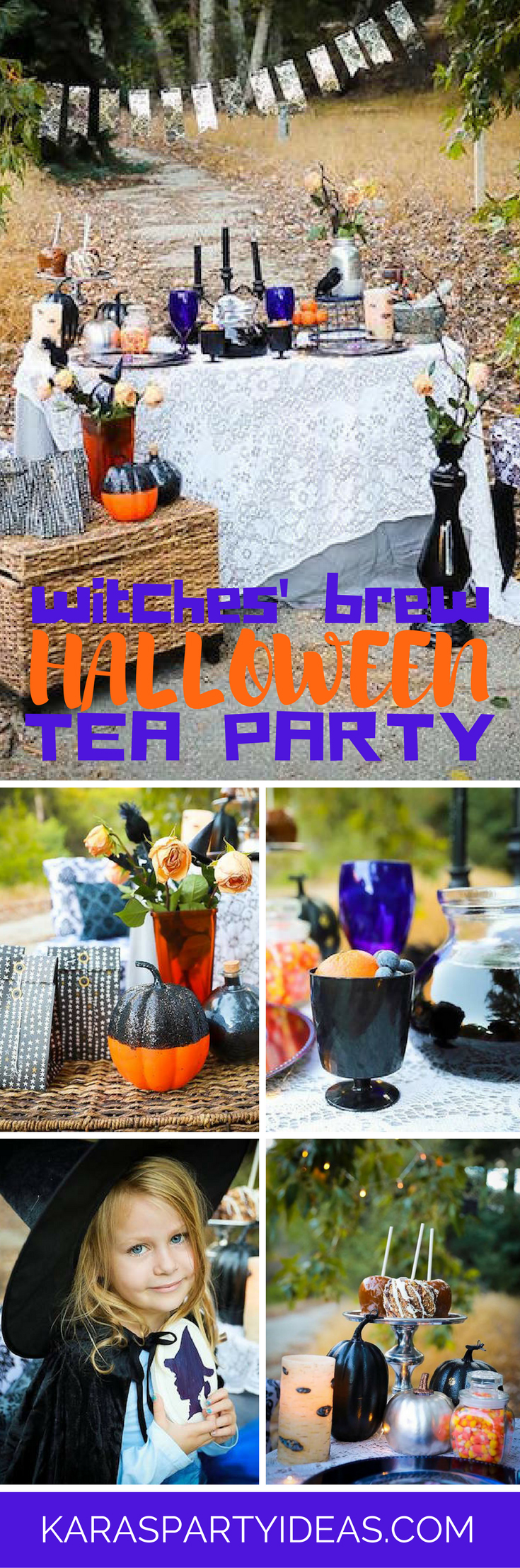 Witches Brew Halloween Tea Party via Kara's Party Ideas - KarasPartyIdeas.com