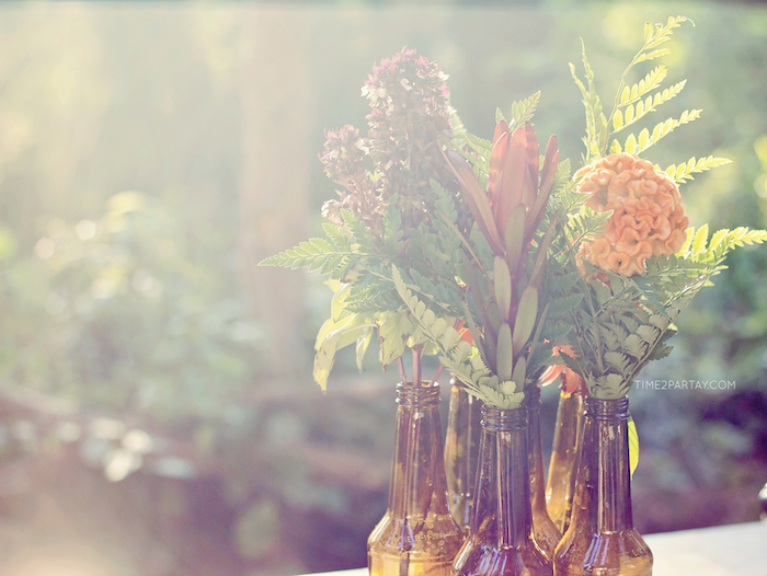Sun-kissed blooms from a Rustic Biker BBQ Birthday Party on Kara's Party Ideas | KarasPartyIdeas.com