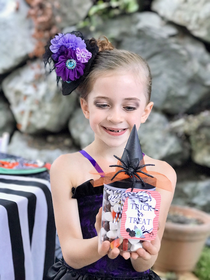 Halloween favor shot from a Wickedly Sweet Halloween Costume Party on Kara's Party Ideas | KarasPartyIdeas.com (24)
