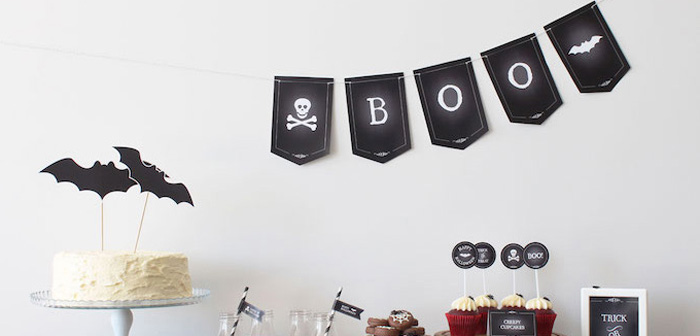 Simple Halloween Dessert Table + FREE Printable on Kara's Party Ideas | KarasPartyIdeas.com