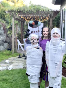 Mummy wrap game from a Wickedly Sweet Halloween Costume Party on Kara's Party Ideas | KarasPartyIdeas.com (9)