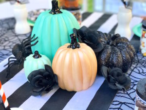 Painted pumpkins from a Wickedly Sweet Halloween Costume Party on Kara's Party Ideas | KarasPartyIdeas.com (8)