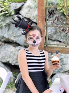 Sugar skull costume from a Wickedly Sweet Halloween Costume Party on Kara's Party Ideas | KarasPartyIdeas.com (5)