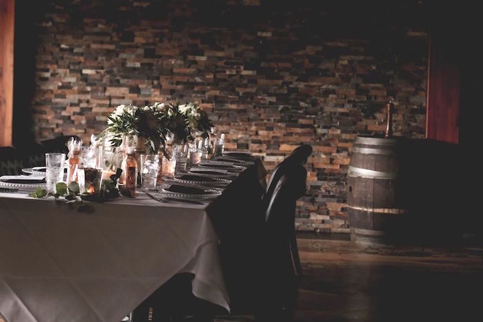 """Guest table from a """"60 Years Loved"""" Birthday Dinner Party on Kara's Party Ideas 