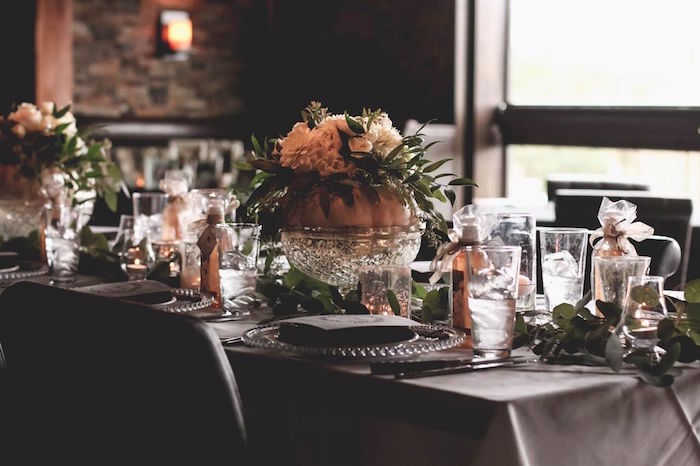"""Guest table from a """"60 Years Loved"""" Birthday Dinner Party on Kara's Party Ideas   KarasPartyIdeas.com (10)"""