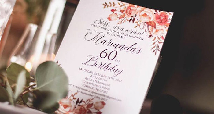 """60 Years Loved"" Birthday Dinner Party on Kara's Party Ideas 