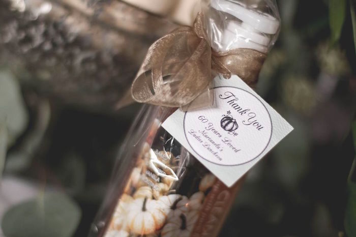 """Soap Favor from a """"60 Years Loved"""" Birthday Dinner Party on Kara's Party Ideas 
