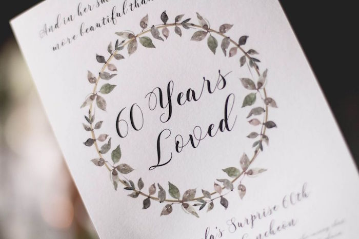 """Signage from a """"60 Years Loved"""" Birthday Dinner Party on Kara's Party Ideas 