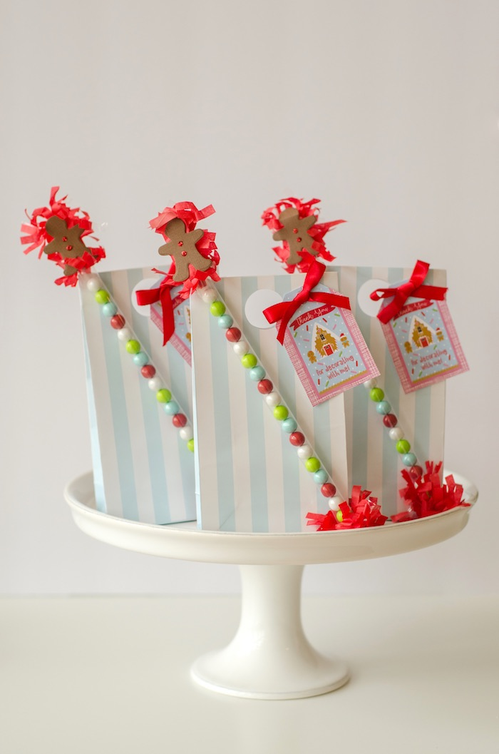 """Favors from a """"Cookies for Santa"""" Christmas Party on Kara's Party Ideas 