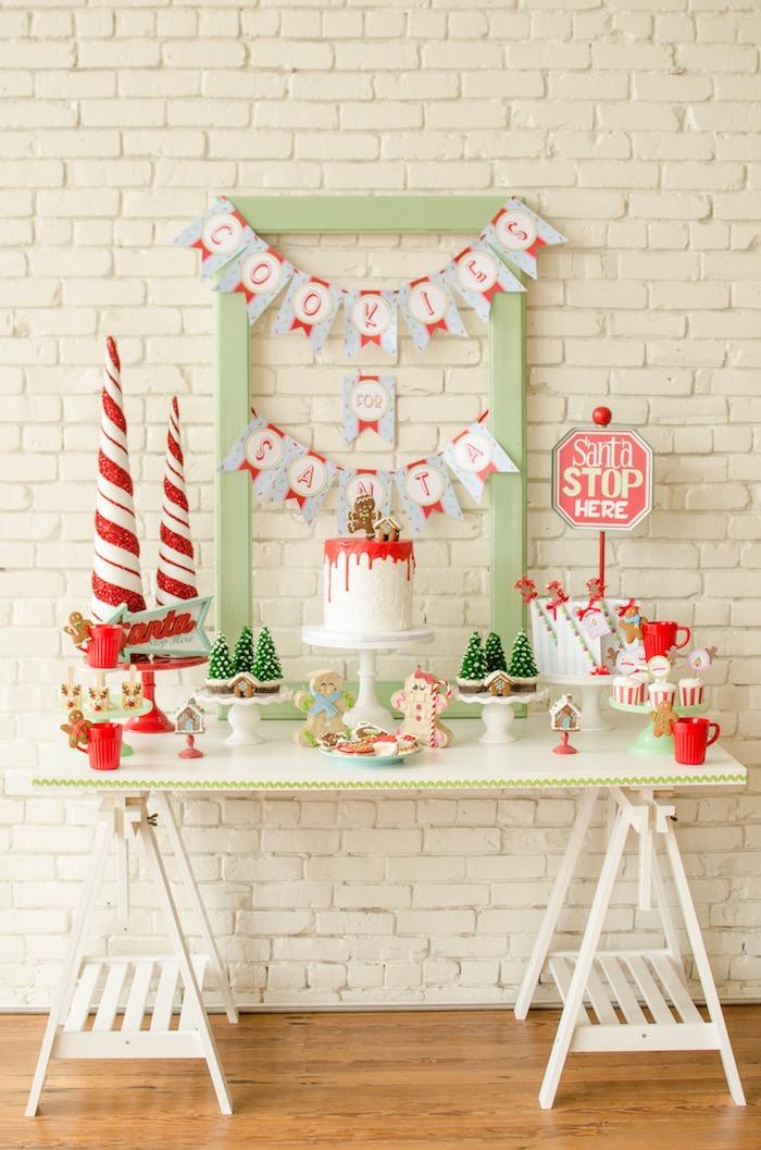 """Cookies for Santa"" Christmas Party on Kara's Party Ideas | KarasPartyIdeas.com (34)"