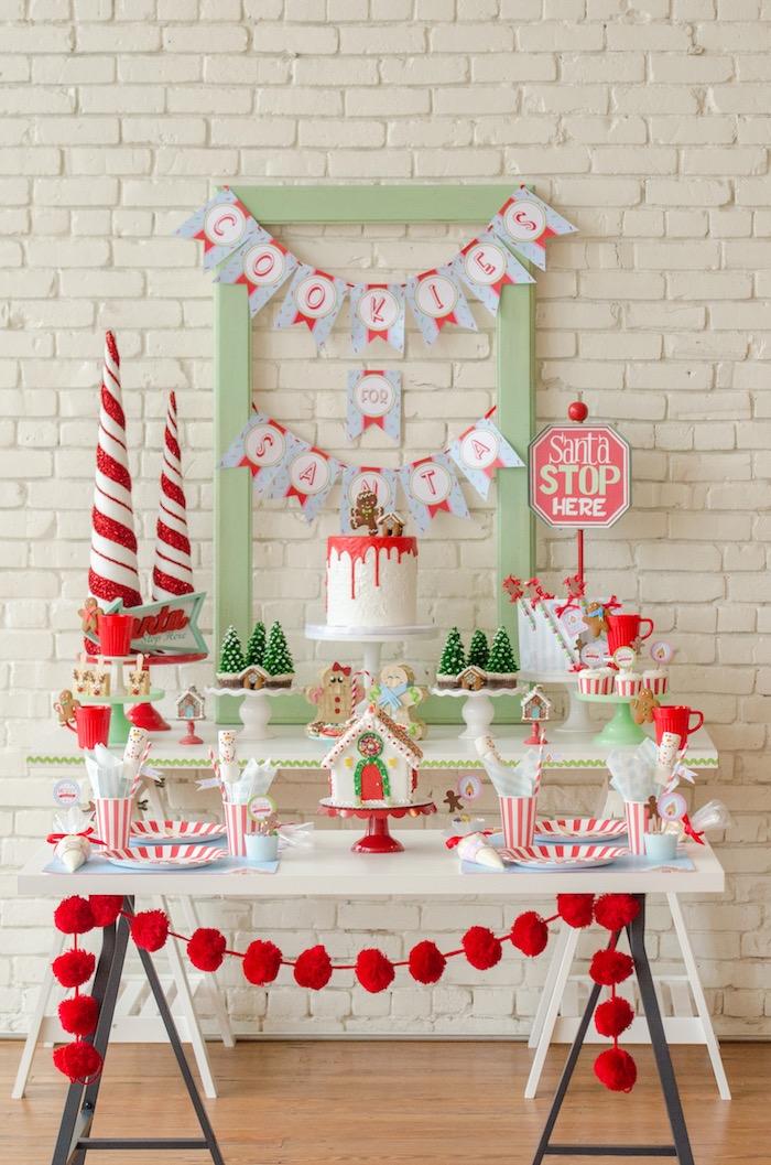 """Cookies for Santa"" Christmas Party on Kara's Party Ideas | KarasPartyIdeas.com (4)"
