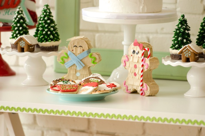 "Cookies and gingerbread men from a ""Cookies for Santa"" Christmas Party on Kara's Party Ideas 