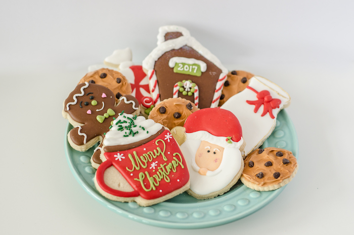 "Christmas cookies from a ""Cookies for Santa"" Christmas Party on Kara's Party Ideas 