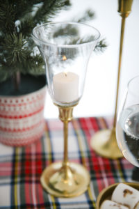 "Candle pedestal from a ""Let it Snow"" Christmas Party on Kara's Party Ideas 