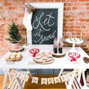 """Let it Snow"" Christmas Party on Kara's Party Ideas   KarasPartyIdeas.com (33)"