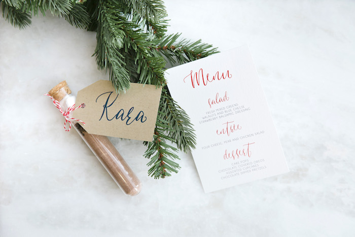 "Signage from a ""Let it Snow"" Christmas Party on Kara's Party Ideas 
