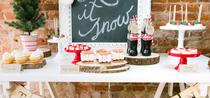 """Let it Snow"" Christmas Party on Kara's Party Ideas 