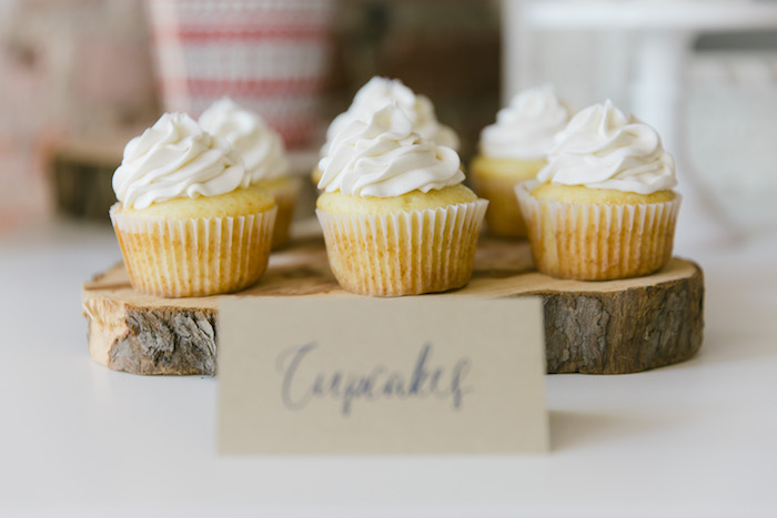 "Cupcakes from a ""Let it Snow"" Christmas Party on Kara's Party Ideas 