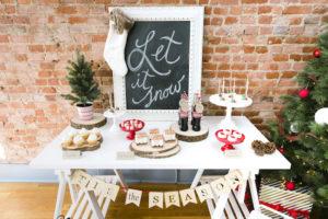 "Tis the Season dessert table from a ""Let it Snow"" Christmas Party on Kara's Party Ideas | KarasPartyIdeas.com (29)"
