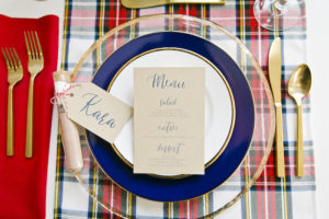 """Rustic elegant table setting from a """"Let it Snow"""" Christmas Party on Kara's Party Ideas   KarasPartyIdeas.com (25)"""