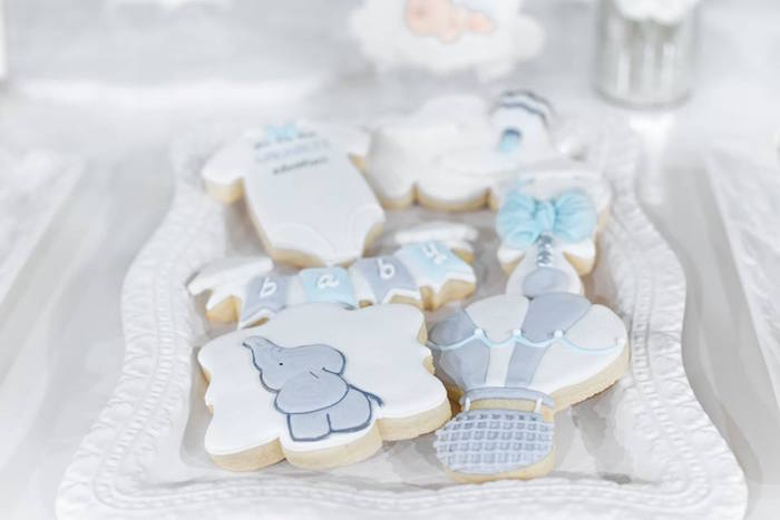 "Cookies from a ""You are my Greatest Adventure"" Hot Air Balloon Baby Shower on Kara's Party Ideas 