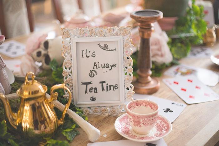 Signage from an Alice in Wonderland Halloween Tea Party on Kara's Party Ideas | KarasPartyIdeas.com (10)