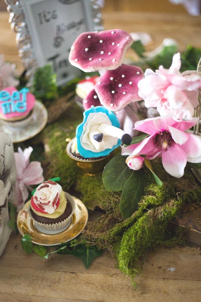 Cupcakes from an Alice in Wonderland Halloween Tea Party on Kara's Party Ideas | KarasPartyIdeas.com (5)