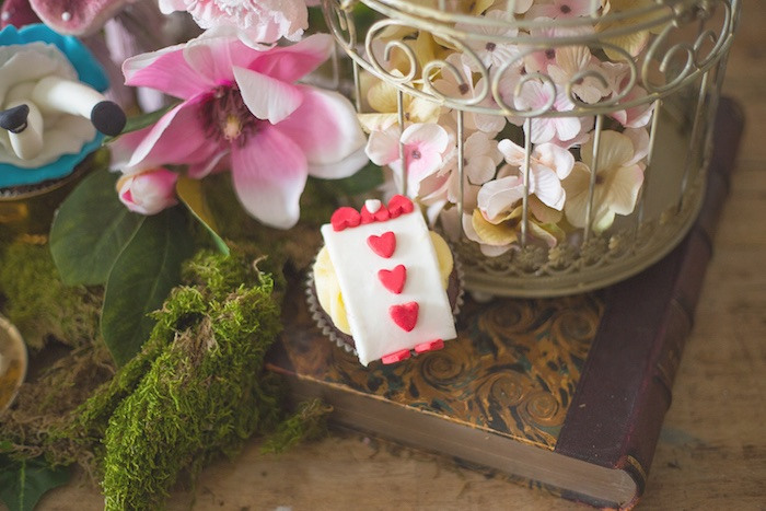 Queen of Heart's Guard Cupcake from an Alice in Wonderland Halloween Tea Party on Kara's Party Ideas | KarasPartyIdeas.com (2)