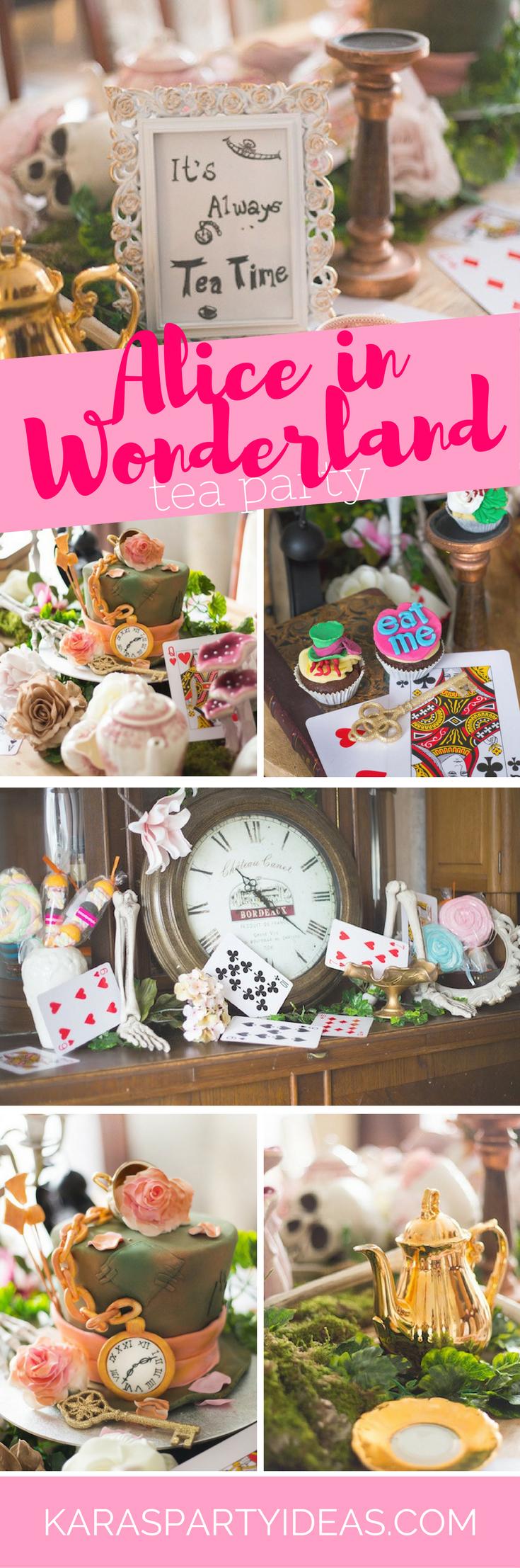 Alice in Wonderland Tea Party via Kara's Party Ideas - KarasPartyIdeas.com