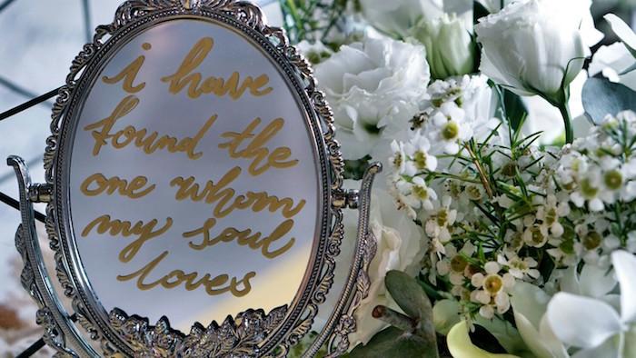Mirror signage from an Atlantis + Ocean Inspired Wedding on Kara's Party Ideas   KarasPartyIdeas.com (6)