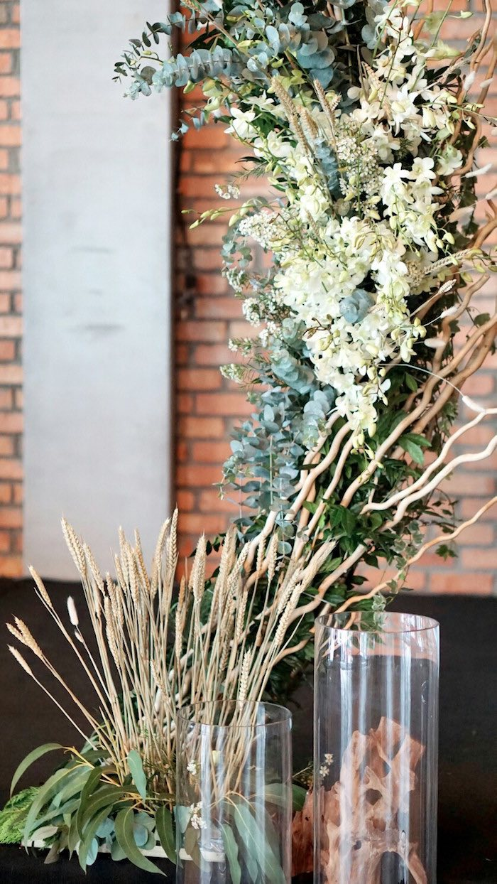 Florals from an Atlantis + Ocean Inspired Wedding on Kara's Party Ideas   KarasPartyIdeas.com (4)