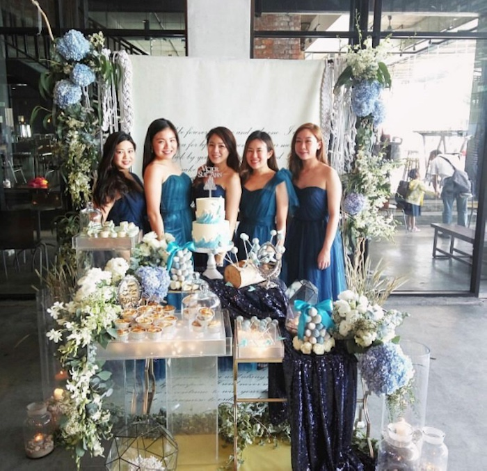Dessert table from an Atlantis + Ocean Inspired Wedding on Kara's Party Ideas   KarasPartyIdeas.com (3)