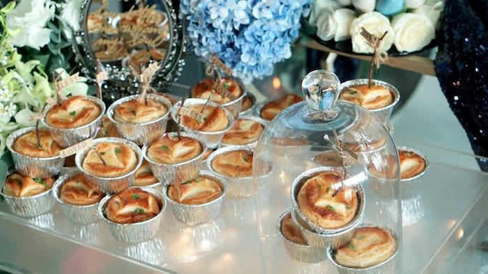 Food table from an Atlantis + Ocean Inspired Wedding on Kara's Party Ideas | KarasPartyIdeas.com (12)