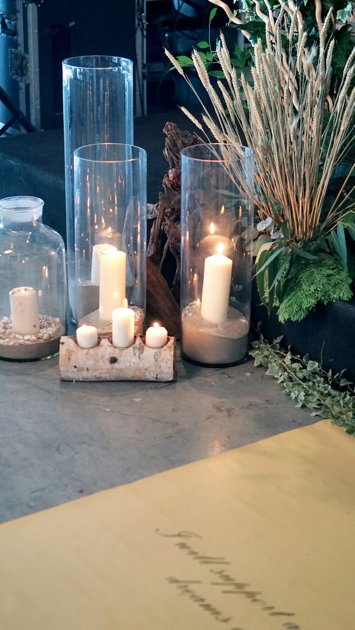 Sand filled candle vases from an Atlantis + Ocean Inspired Wedding on Kara's Party Ideas | KarasPartyIdeas.com (10)