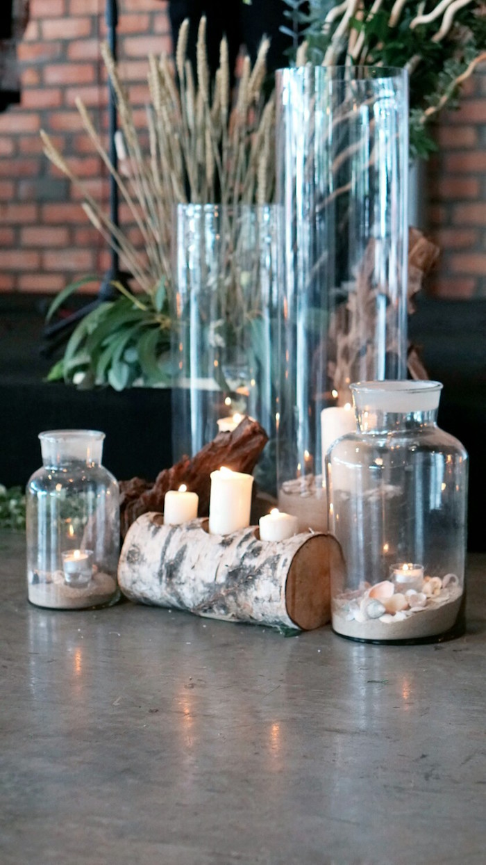 Sand candle holders from an Atlantis + Ocean Inspired Wedding on Kara's Party Ideas | KarasPartyIdeas.com (9)