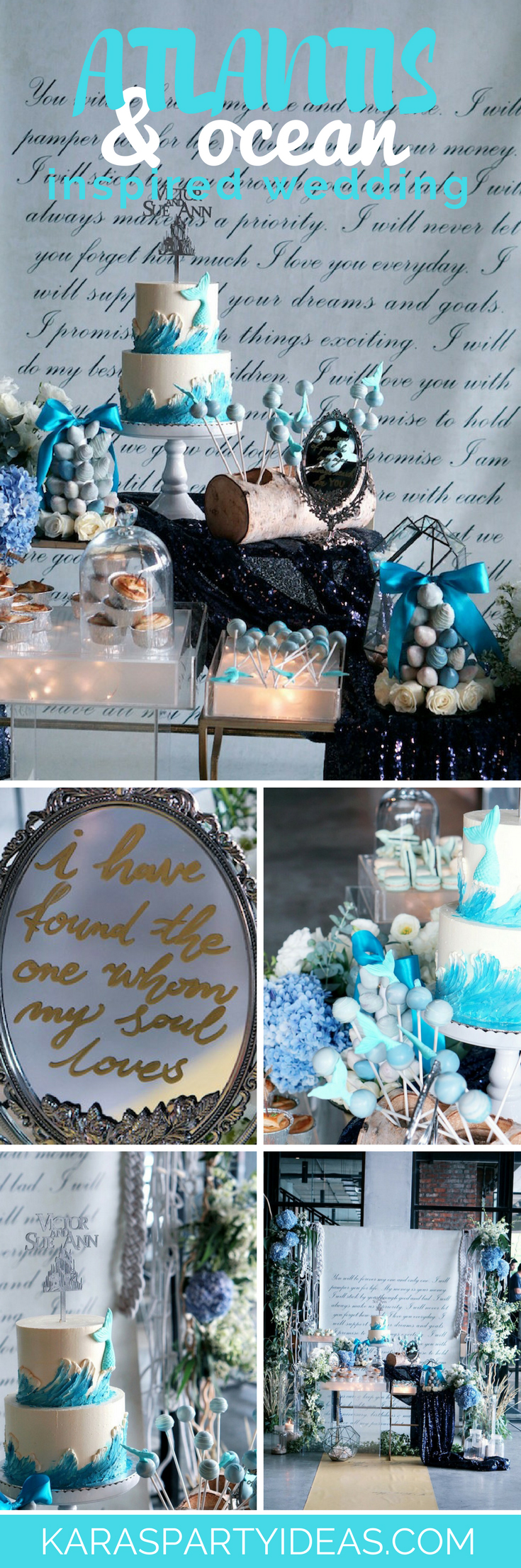 Atlantis and Ocean Inspired Wedding via Kara's Party Ideas - KarasPartyIdeas.com