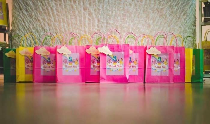 Gift bags from a Care Bear Birthday Party on Kara's Party Ideas | KarasPartyIdeas.com (17)