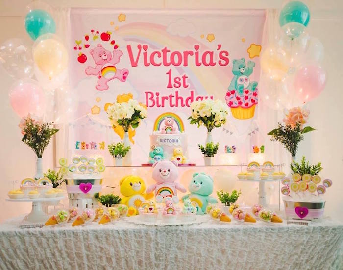 Care Bear Dessert Table from a Care Bear Birthday Party on Kara's Party Ideas | KarasPartyIdeas.com (16)