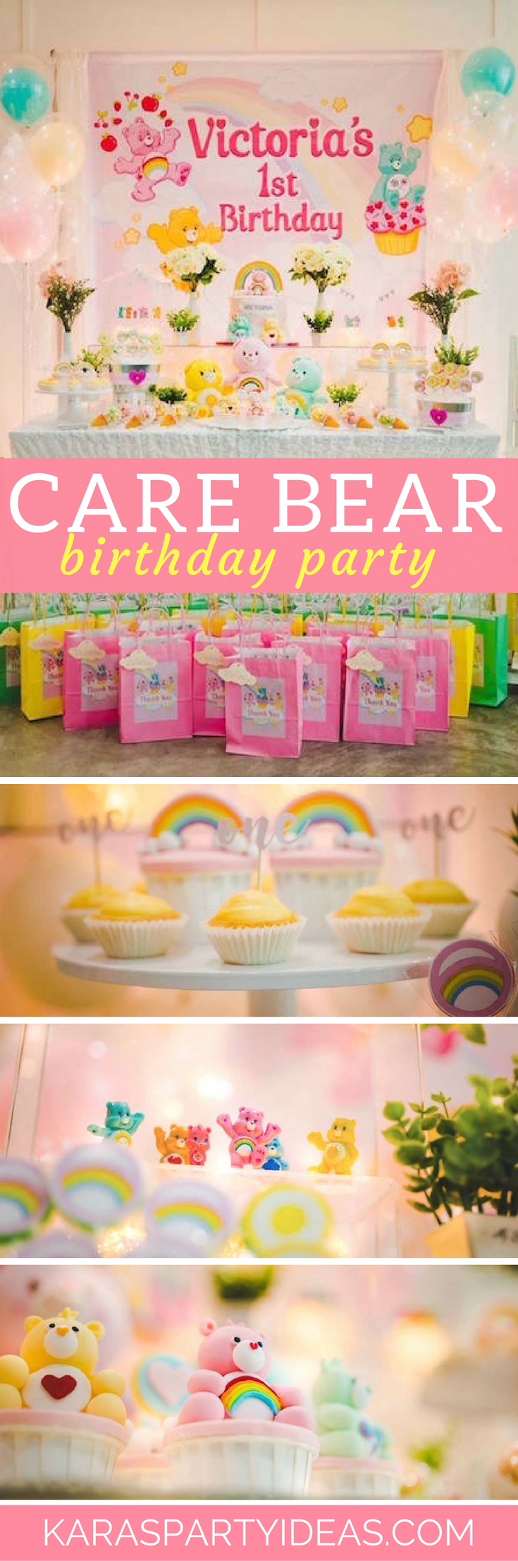 Care Bear Birthday Party via Kara's Party Ideas - KarasPartyIdeas.com
