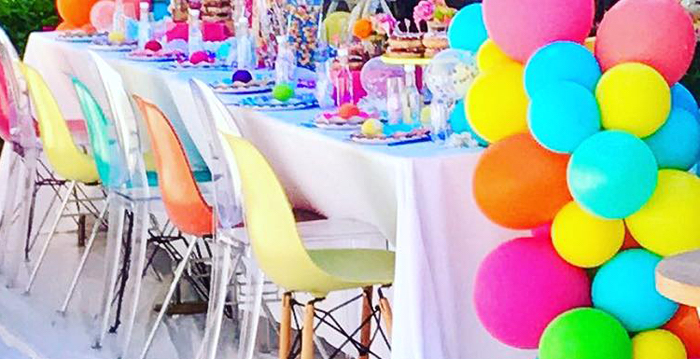 Colorful Modern 10th Birthday Party on Kara's Party Ideas | KarasPartyIdeas.com