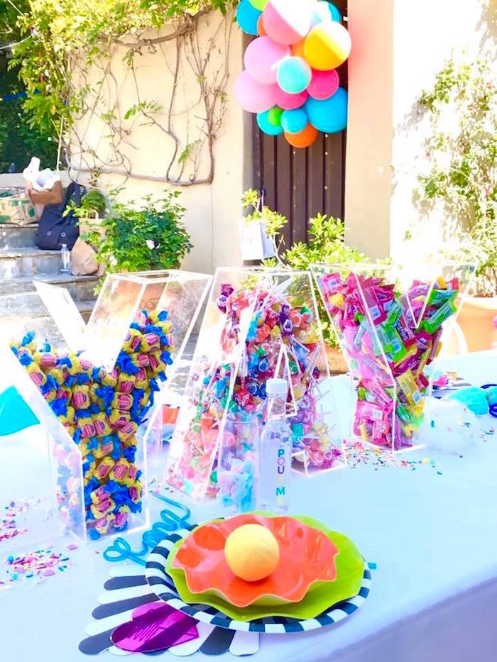 Colorful Modern 10th Birthday Party On Karas Party Ideas Karaspartyideas Com