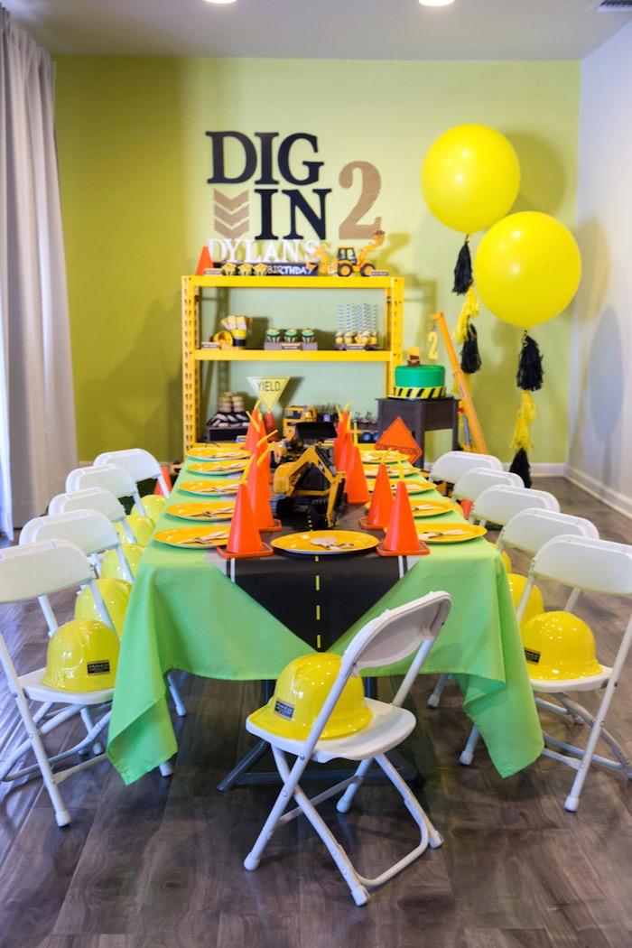 Construction 2nd Birthday Party on Kara's Party Ideas | KarasPartyIdeas.com (20)